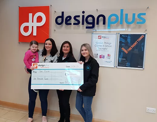 Design Plus donates £1000 to local charities